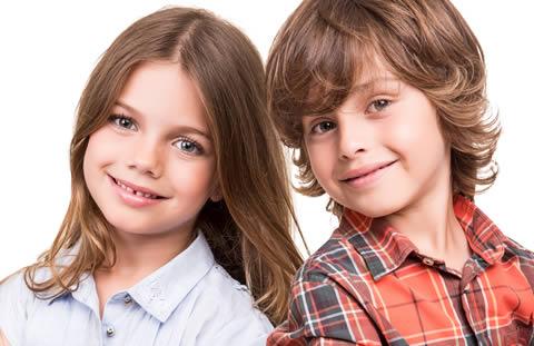 Kids with healthy teeth